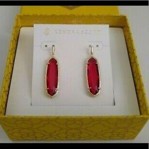 Kendra Scott Layla Earrings - Clear berry/Gold